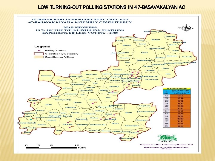LOW TURNING-OUT POLLING STATIONS IN 47 -BASAVAKALYAN AC