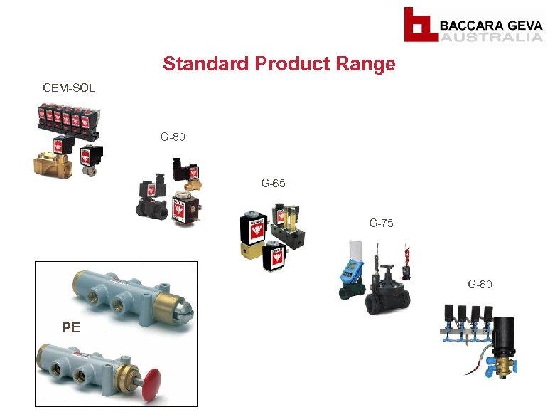 Standard Product Range GEM-SOL G-80 G-65 G-75 G-60 PE