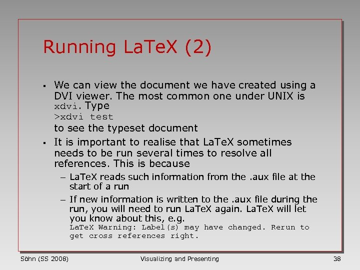 Running La. Te. X (2) § § We can view the document we have