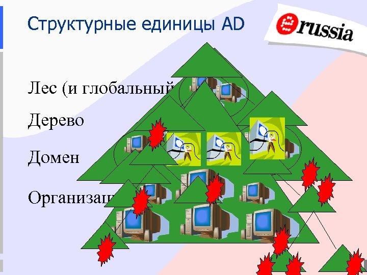 Структурные единицы AD Лес (и глобальный каталог) Дерево Домен Организационное подразделение