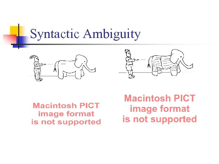 Syntactic Ambiguity