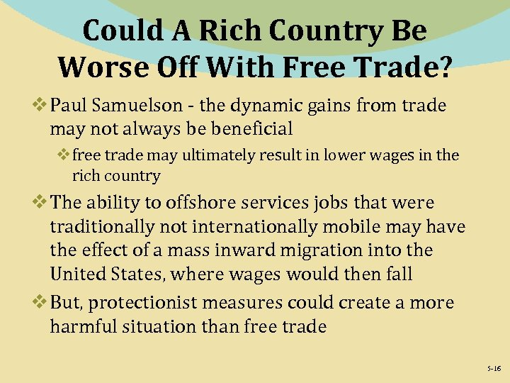 Could A Rich Country Be Worse Off With Free Trade? v Paul Samuelson -