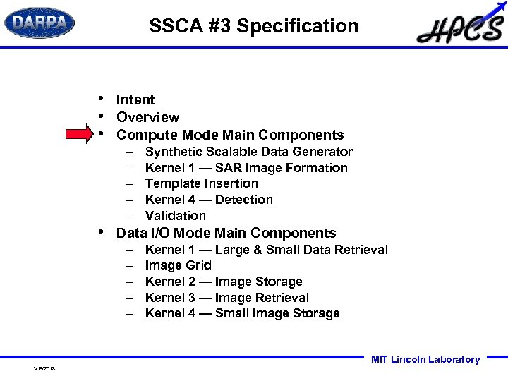 SSCA #3 Specification • • Intent Overview Compute Mode Main Components – – –