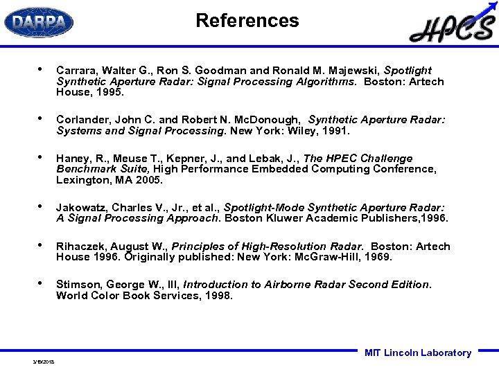 References • Carrara, Walter G. , Ron S. Goodman and Ronald M. Majewski, Spotlight