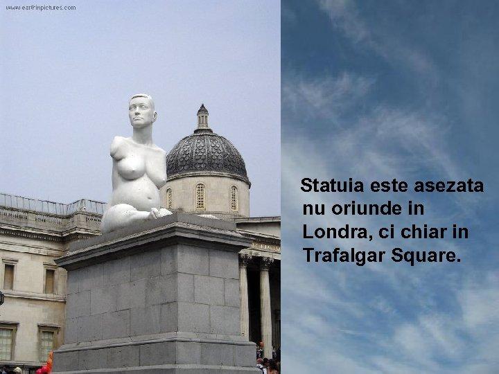 Statuia este asezata nu oriunde in Londra, ci chiar in Trafalgar Square.