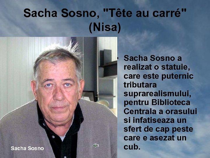 Sacha Sosno,