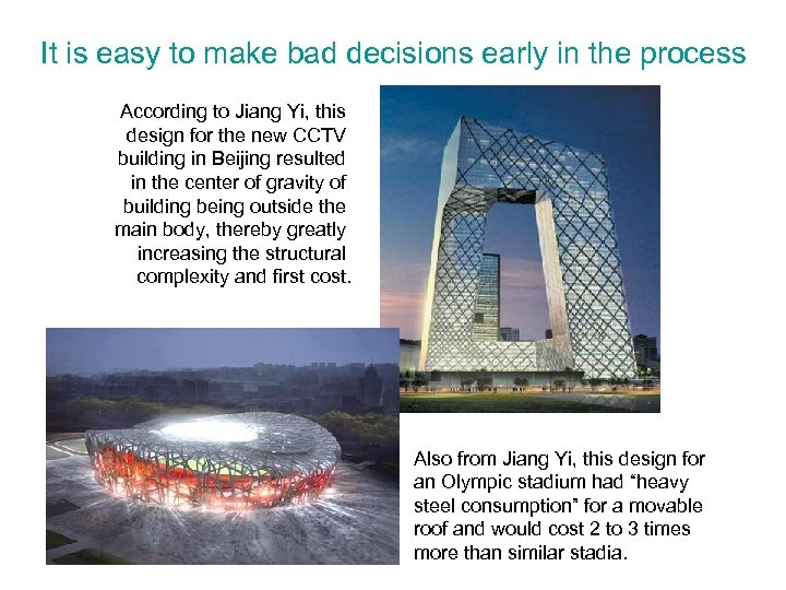 It is easy to make bad decisions early in the process According to Jiang