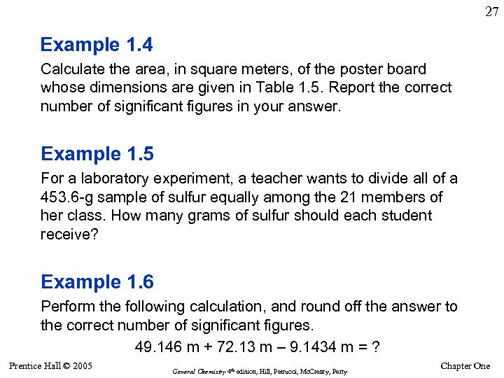 27 Example 1. 4 Calculate the area, in square meters, of the poster board