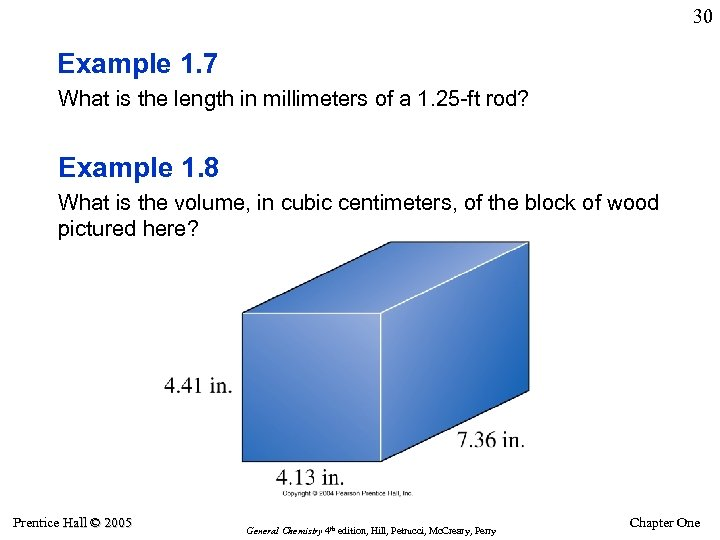 30 Example 1. 7 What is the length in millimeters of a 1. 25