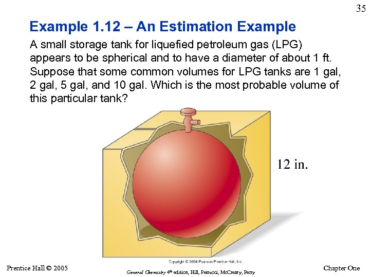 35 Example 1. 12 – An Estimation Example A small storage tank for liquefied