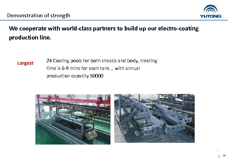 Demonstration of strength We cooperate with world-class partners to build up our electro-coating production