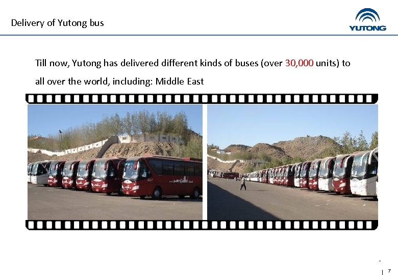 Delivery of Yutong bus Till now, Yutong has delivered different kinds of buses (over