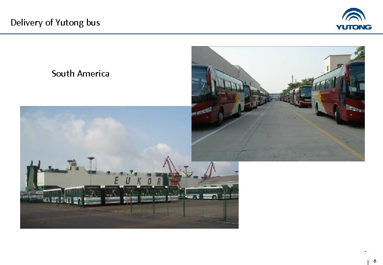 Delivery of Yutong bus South America 8