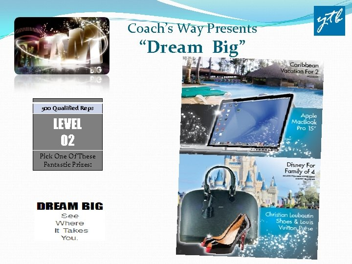 "Coach's Way Presents ""Dream Big"" 500 Qualified Reps LEVEL 02 Pick One Of These"