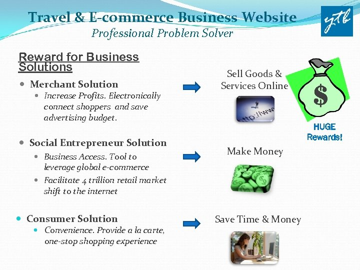 Travel & E-commerce Business Website Professional Problem Solver Reward for Business Solutions Merchant Solution
