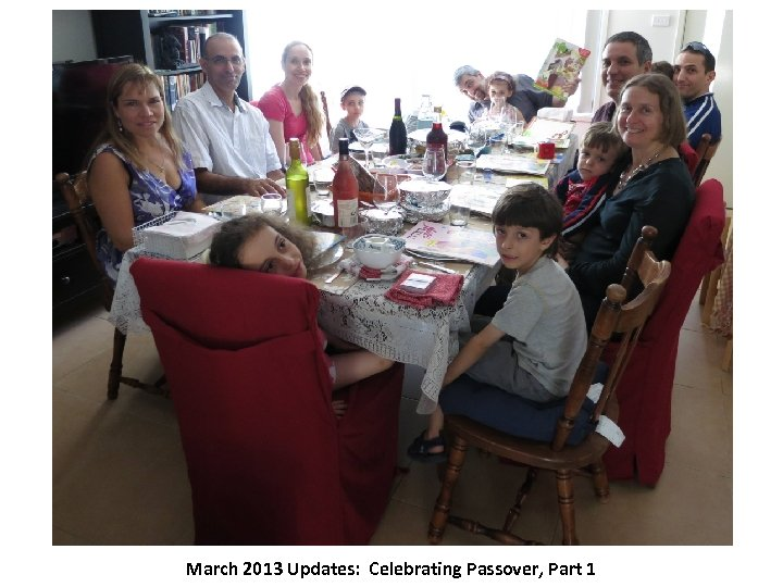 March 2013 Updates: Celebrating Passover, Part 1