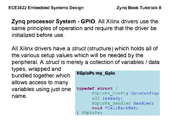 Zynq Book Tutorials II ECE 3622 Embedded