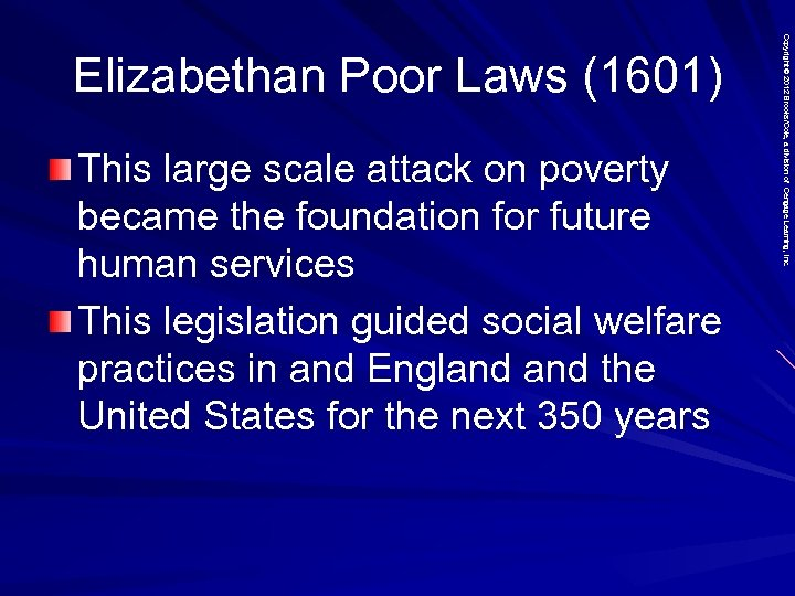 This large scale attack on poverty became the foundation for future human services This