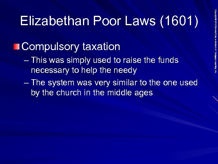 Compulsory taxation – This was simply used to raise the funds necessary to help