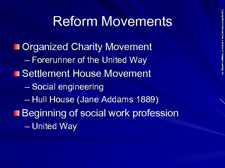 Organized Charity Movement – Forerunner of the United Way Settlement House Movement – Social
