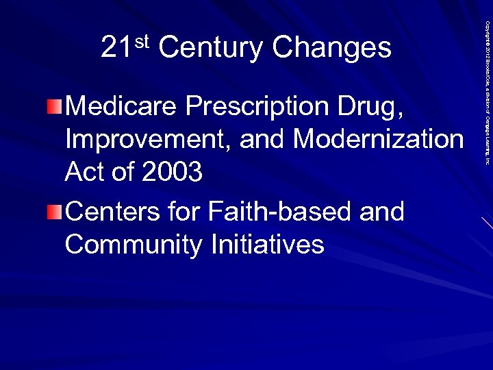Medicare Prescription Drug, Improvement, and Modernization Act of 2003 Centers for Faith-based and Community
