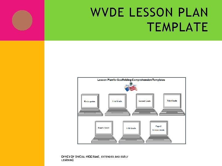 WVDE LESSON PLAN TEMPLATE Reading Lesson Plan OFFICE OF SPECIAL PROGRAMS, EXTENDED AND EARLY