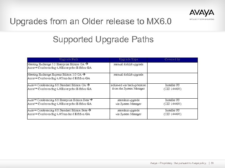 Upgrades from an Older release to MX 6. 0 Supported Upgrade Paths Upgrade Path