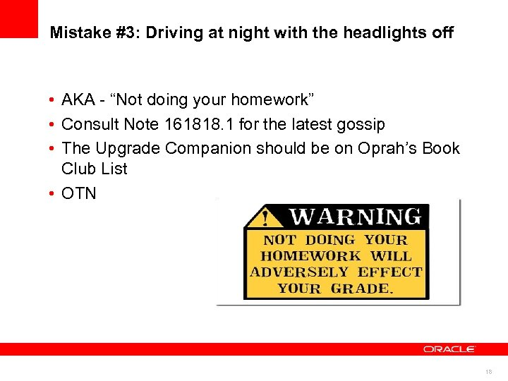 """Mistake #3: Driving at night with the headlights off • AKA - """"Not doing"""