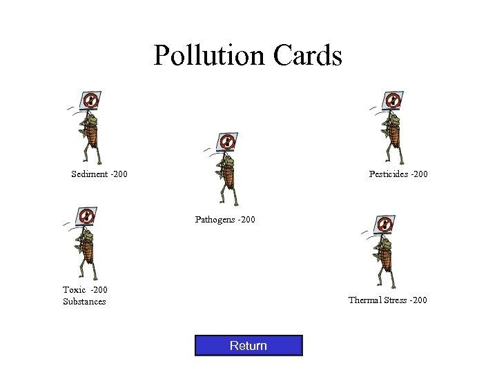 Pollution Cards Sediment -200 Pesticides -200 Pathogens -200 Toxic -200 Substances Thermal Stress -200