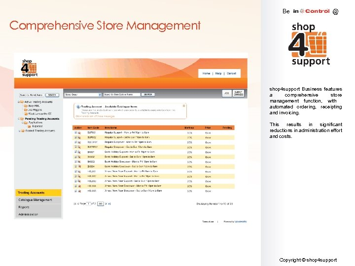 Be @ Comprehensive Store Management shop 4 support Business features a comprehensive store management