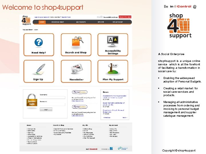 Welcome to shop 4 support Be @ A Social Enterprise shop 4 support is