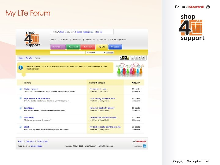 My Life Forum Be @ Copyright © shop 4 support