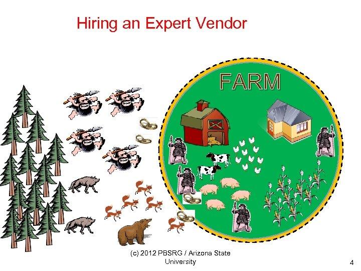 Hiring an Expert Vendor FARM (c) 2012 PBSRG / Arizona State University 4