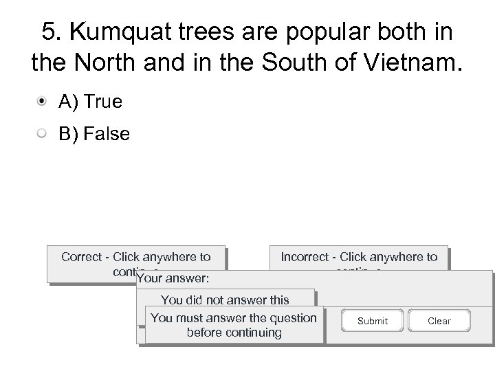 5. Kumquat trees are popular both in the North and in the South of