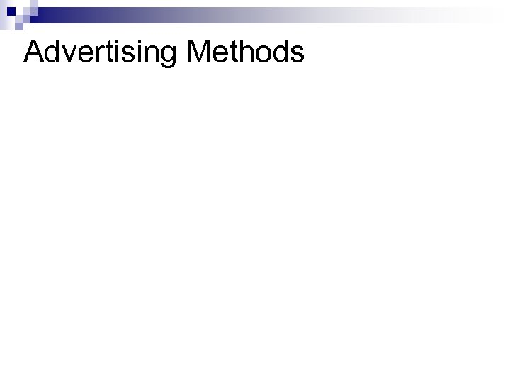 Advertising Methods