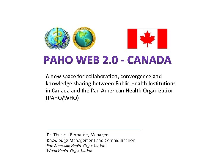 A new space for collaboration, convergence and knowledge sharing between Public Health Institutions in