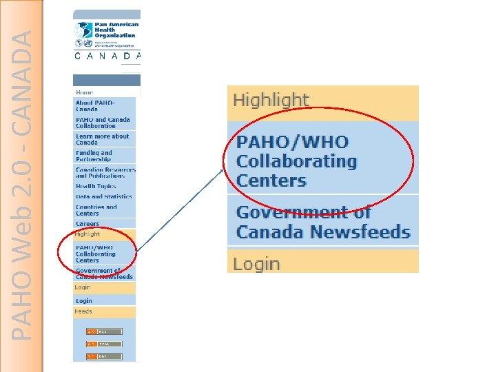 PAHO Web 2. 0 - CANADA
