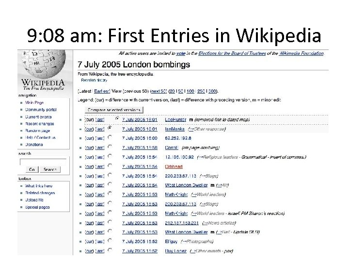 9: 08 am: First Entries in Wikipedia - geography