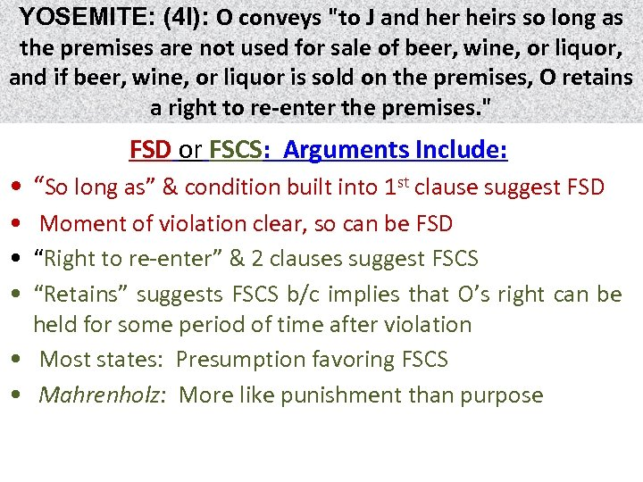 YOSEMITE: (4 I): O conveys