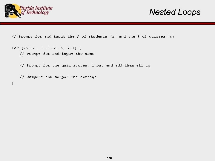 Nested Loops // Prompt for and input the # of students (n) and the
