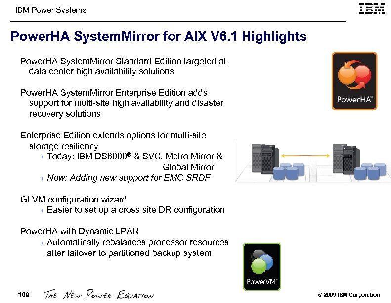 IBM Power Systems Power. HA System. Mirror for AIX V 6. 1 Highlights Power.