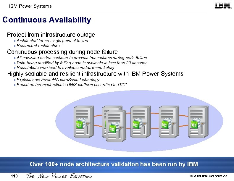 IBM Power Systems Continuous Availability Protect from infrastructure outage 4 Architected for no single