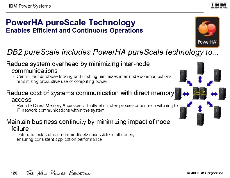 IBM Power Systems Power. HA pure. Scale Technology Enables Efficient and Continuous Operations DB