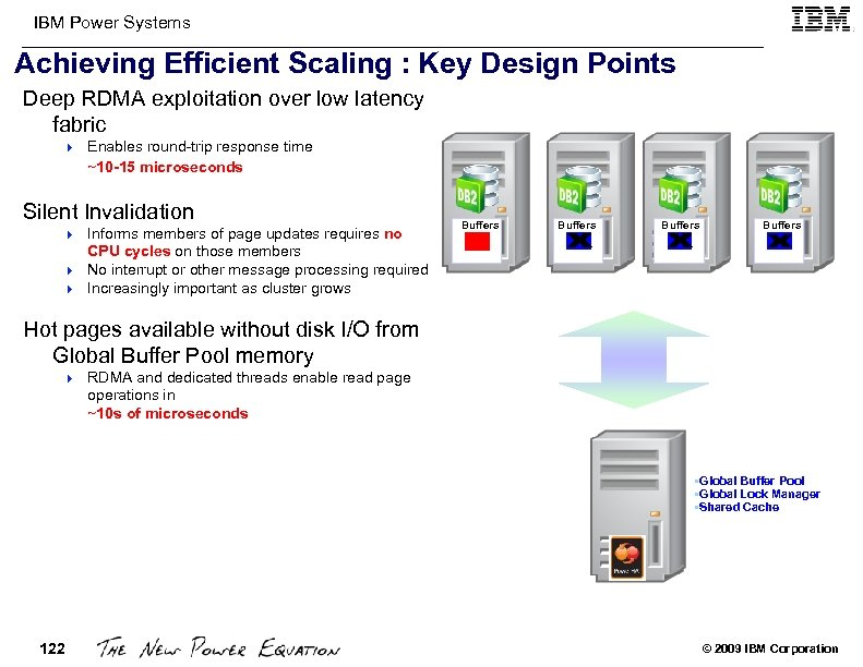 IBM Power Systems Achieving Efficient Scaling : Key Design Points Deep RDMA exploitation over
