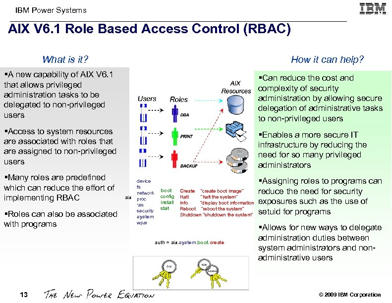 IBM Power Systems AIX V 6. 1 Role Based Access Control (RBAC) What is