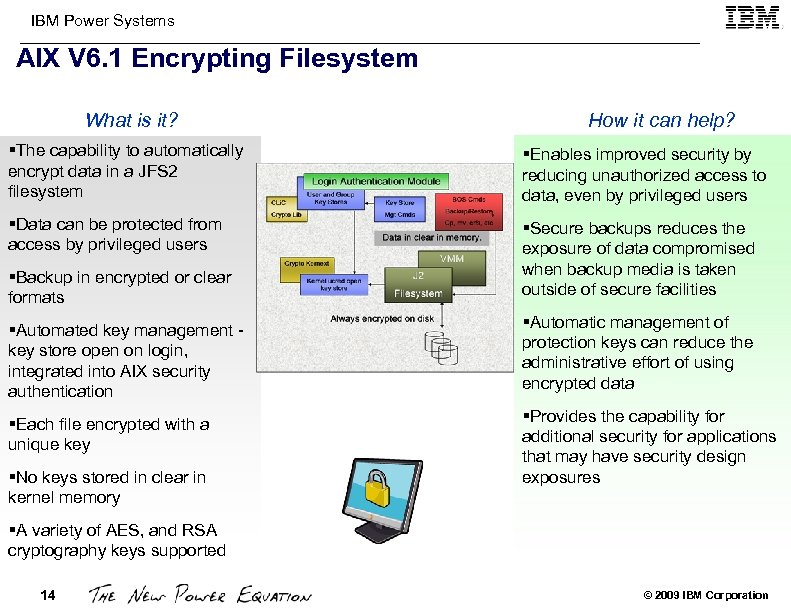 IBM Power Systems AIX V 6. 1 Encrypting Filesystem What is it? How it