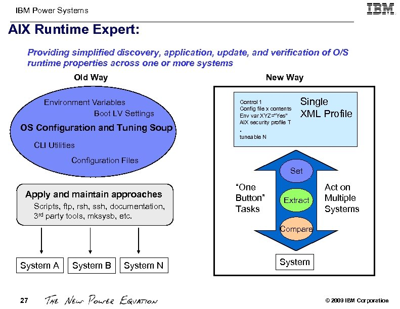 IBM Power Systems AIX Runtime Expert: Providing simplified discovery, application, update, and verification of