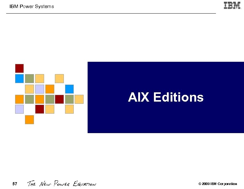 IBM Power Systems AIX Editions 57 © 2009 IBM Corporation