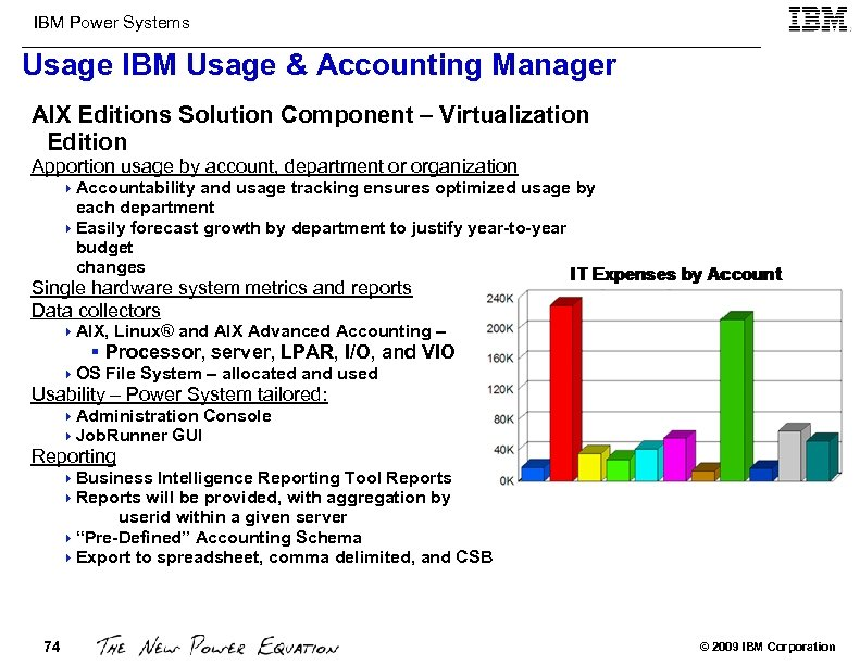 IBM Power Systems Usage IBM Usage & Accounting Manager AIX Editions Solution Component –