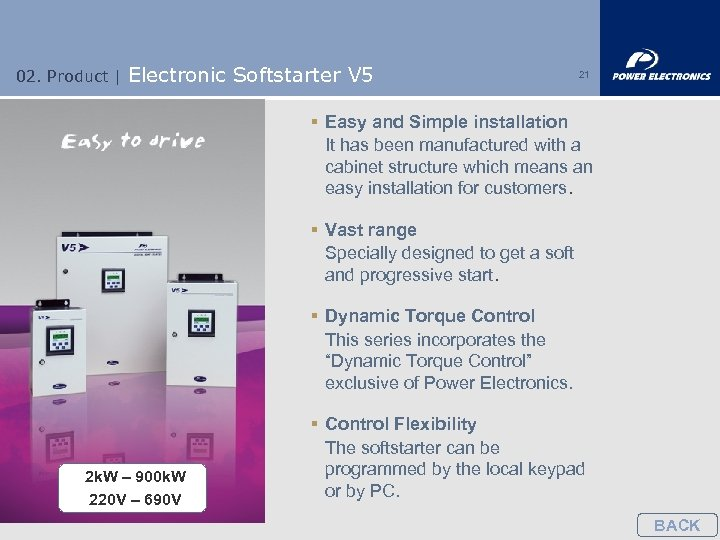 02. Product | Electronic Softstarter V 5 21 § Easy and Simple installation It
